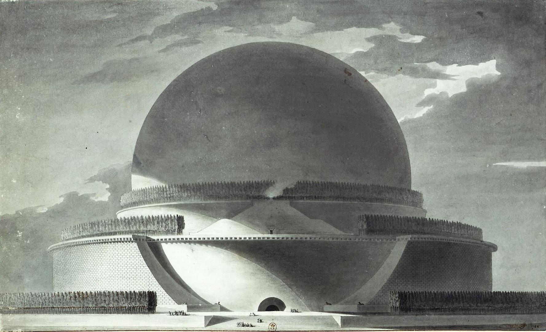 Mauzoleum klasycystyczne, cenotaf Izaaka Newtona